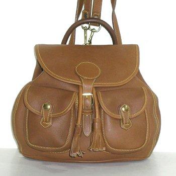 Authentic Dooney \u0026 Bourke Drawstring Backpack U119 Leather Honey