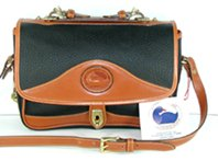 Authentic Dooney & Bourke All Weather Leather Vintage Carrier Shoulder Bag