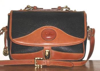852a8a7b18 R701 Vintage Dooney and Bourke Carrier Shoulder Bag Black and ...
