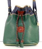 Authentic Dooney and Bourke All Weather Leather Teton Drawstring H58