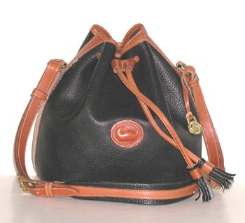Drawstring Bag R58 Dooney & Bourke All Weather Leather Black and ...