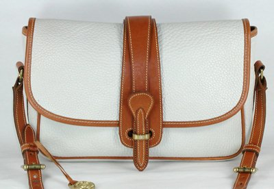 Authentic Dooney And Bourke All Weather Leather Original R54 Equestrian Handbag