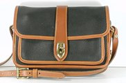Authentic Dooney and Bourke All Weather Leather Equestrian Shoulder Bag