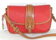 Authentic Dooney and Bourke All Weather Leather R53 Small Equestrian Shoulder Bag