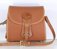 Authentic Dooney and Bourke All Weather Leather Small Essex British Tan shoulder bag
