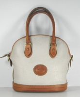 Authentic Dooney and Bourke All Weather Leather Small Norfolk Case R04 Bone and British Tan