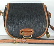 Authentic Dooney and Bourke All Weather Leather Horseshoe Shoulder Bag