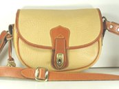 Authentic Dooney and Bourke S114 Small Flap Bag palomino and British tan