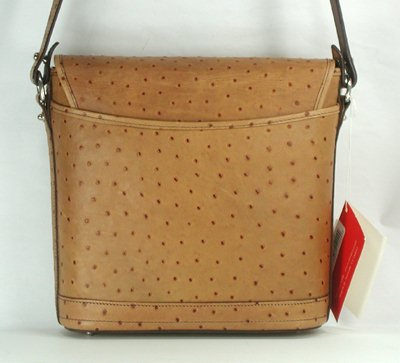 Dooney And Bourke Ostrich Leather Large Flap Bag