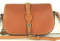 Authentic Dooney and Bourke All Weather Leather Over and Under Bag British tan