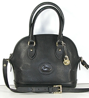 Authentic Dooney and Bourke All Weather Leather Norfolk Satchel P07 black