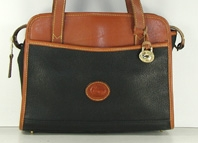 Authentic Dooney and Bourke All Weather Leather East West Tote R156 black