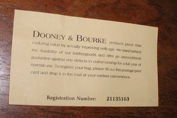 dooney and bourke serial number lookup
