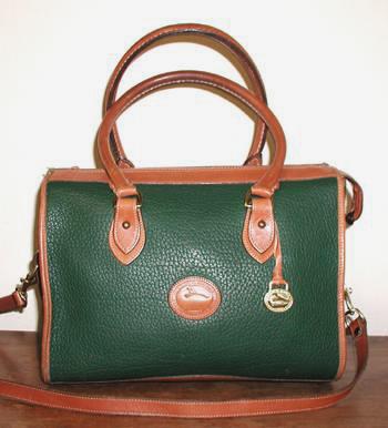 Satchel Dooney & Bourke Large Satchel Handbag Fir Green and ...