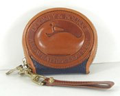 Authentic Dooney and Bourke B53 All Weather Leather Zip-Along coin purse
