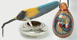 Native American Indian ceremonial and home items