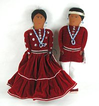 Authentic Native American Navajo hand made dolls