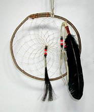 Authentic Native American Raven Willow 4-Colors Dreamcatcher 12-inch diameter by Lakota Alan Monroe