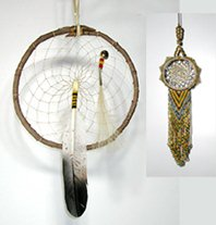 Authentic Native American Eagle Willow Dreamcatcher 10-inch diameter by Lakota Alan Monroe