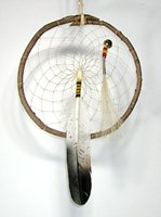 Authentic Native American Eagle Willow Dreamcatcher 12-inch diameter by Lakota Alan Monroe