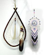 Authentic Native American Lakota Willow and Beaded Dreamcatchers