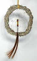 Authentic Native American Black Hills Sage Dreamcatcher 6-inch diameter by Lakota Alan Monroe