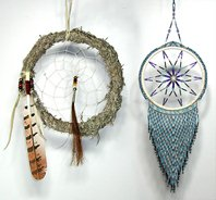Authentic Native American Lakota Sage and Beaded Dreamcatchers