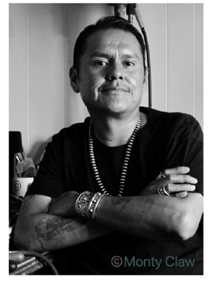 Portrait of Navajo artist Monty Claw
