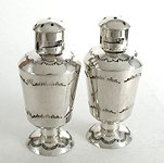 Hand made Native American Indian Jewelry; Navajo Sterling Silver salt and pepper shakers