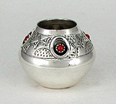 Hand made Native American Indian Jewelry; Navajo Sterling Silver seed pot