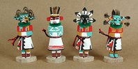 Native American Hopi kachina dolls