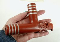 Authentic Native American catlinite pipestone four winds eagle effigy pipe by Lakota Alan Monroe