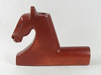 Authentic Native American catlinite pipestone horse effigy pipe by Lakota artist Alan Monroe