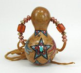 Native American Indian ceremonial horse rattle