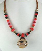 Authentic Native American bottle neck mini gourd horse spirit Rattle Necklace by Lakota Alan Monroe