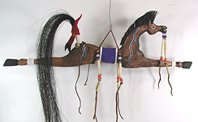 Native American Indian ceremonial horse dance stick