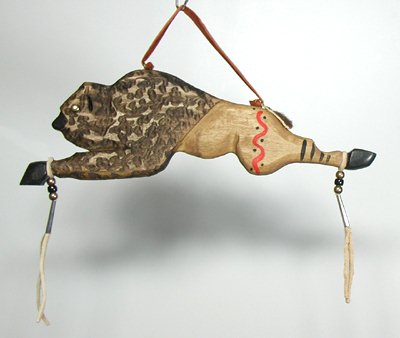 Authentic Native American Buffalo Stick Wall Hanging By