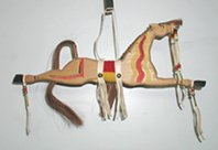 Authentic Native American Horse Stick Wall Hanging by Lakota Alan Monroe
