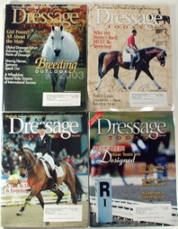 vintage and collectible horse magazines Dressage Today 1999