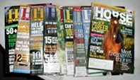vintage horse magazines Horse Illustrated 2001-2009, collectible horse magazines, 9 issues