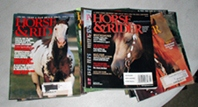 Horse and Rider - vintage horse magazines from 2001