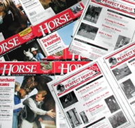 vintage and collectible horse magazines including The Horse, John Lyon's Perfect Horse