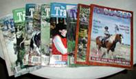 vintage horse magazines Trail Blazer and Trail Rider 2000-2006, collectible horse magazines, 10 issues