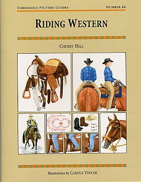 A thorough introduction to Western horses and the Western style of riding illustrated with 90 color drawings of horses, tack, exercises, and more! Included is a description of stock horse conformation and the major stock horse breeds and colors; mane and tail styles; saddles, saddles accessories; bits, bridles, and miscellaneous tack; attire; the rider's position; the rider's aids; Western gaits; Western manuevers and exercises; Horsemanship; Pleasure; Trail; Reining; and other Western Events.