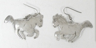 Bargain Barn one pair Sterling Silver Horse Wire Earrings