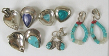 Bargain Barn 5 Pairs Clip and Screw earrings