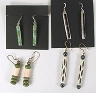 Bargain Barn four Pairs long wire earrings