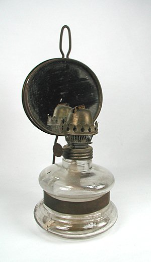 Vintage Polish Kerosene Mirror Lamp