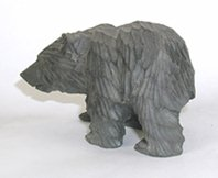 vintage wood Bear carving