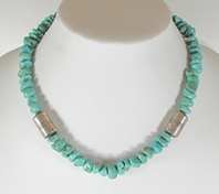 VintageTurquoise Nugget Necklace